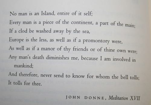 analysis on john donne s meditation 17 Poem analysis of meditation 17 by john donne essay - it is quite feasible to state that poetry at its finest is a dazzling and expressive art of words a poem not.