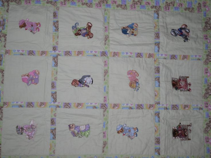 Machine embroidery Baby Quilt My Creations Pinterest