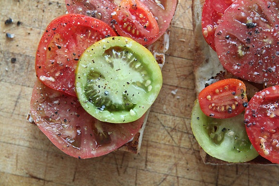 More like this: tomato sandwich , heirloom tomatoes and tomatoes .