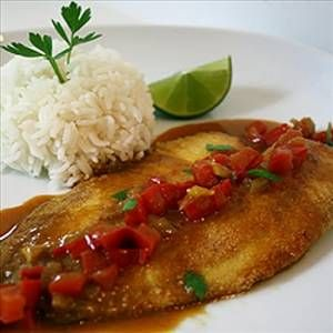 Tilapia with Cherry Salsa Spicy salsa matched with beautifully ...