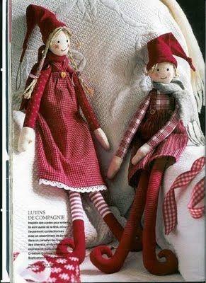 Christmas elf pattern.
