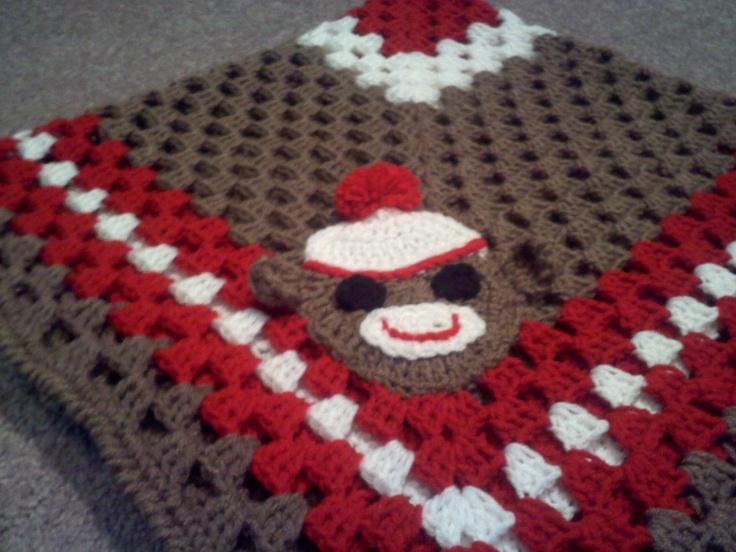 Monkey Baby Blanket Knitting Pattern : Crochet ~ Sock Monkey Baby Blanket Crochet Pinterest