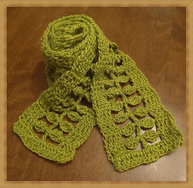 Free Crochet Patterns Of Leaves : Free leaf scarf crochet pattern. crochet Pinterest