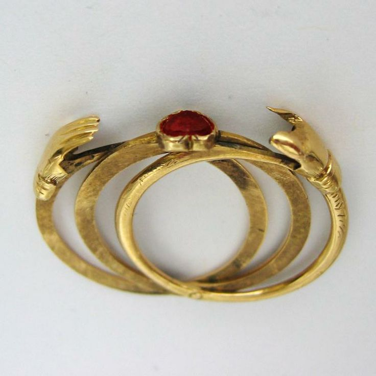 a georgian yellow gold gimmel ring jewelry rings