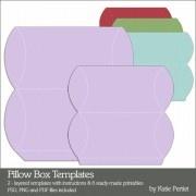 pillow box template $3.99