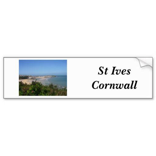 Comwall Design Decals : St Ives - Cornwall Sticker Bumper Sticker