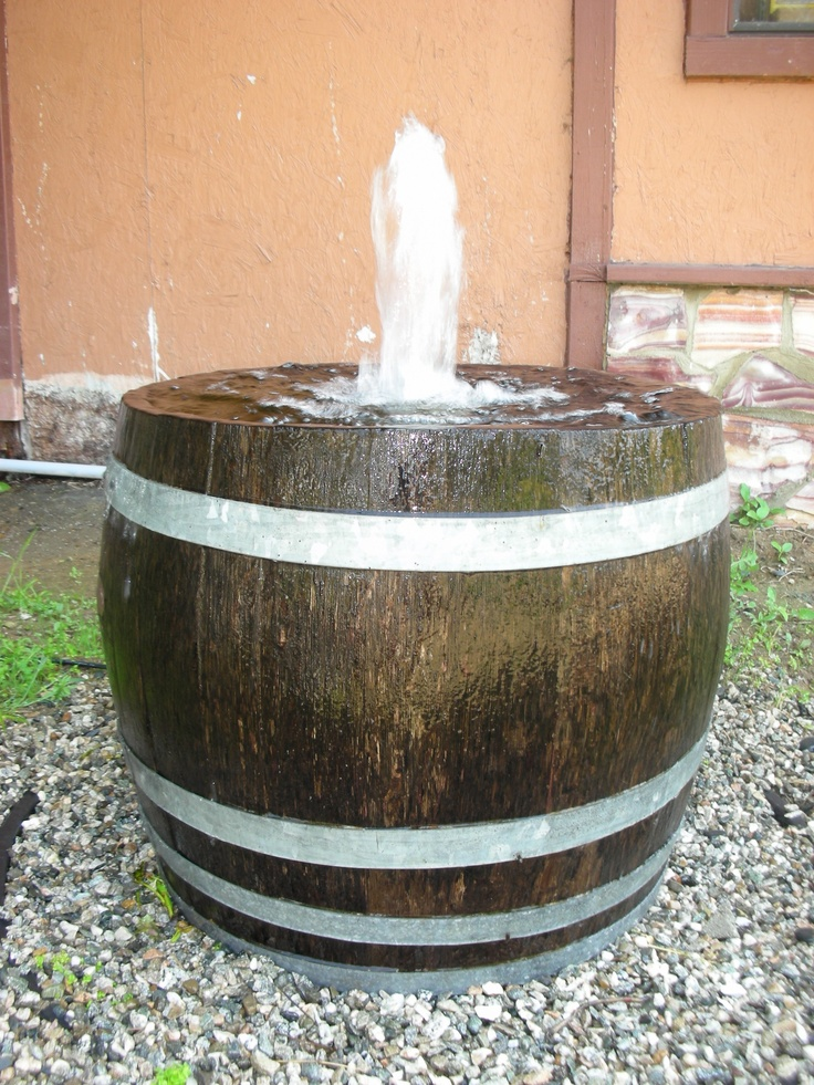 Single Pondless Barrel Fountain Ugliest Yard Pinterest