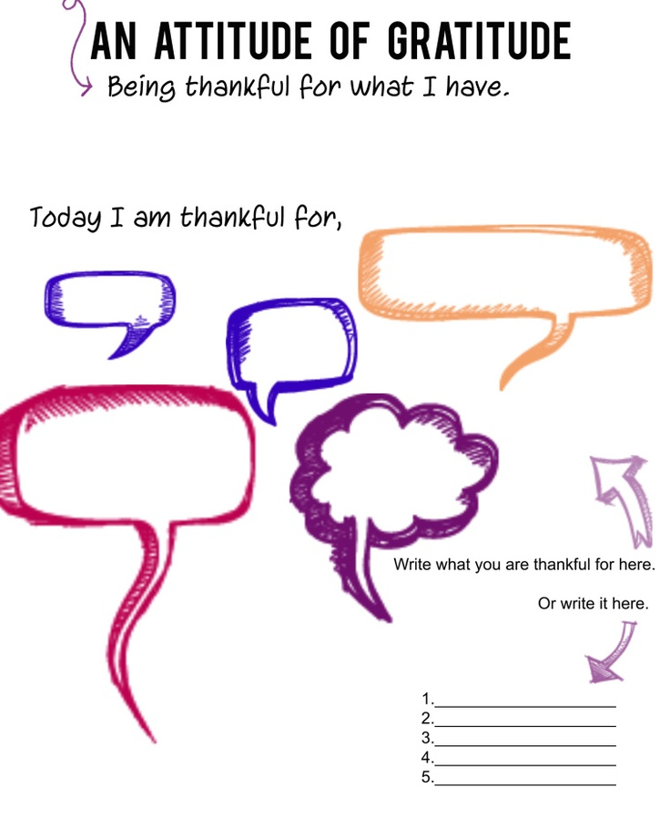Have an attitude of gratitude - free printout / printable