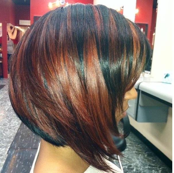 Color & burgundy highlights   Hair   Pinterest