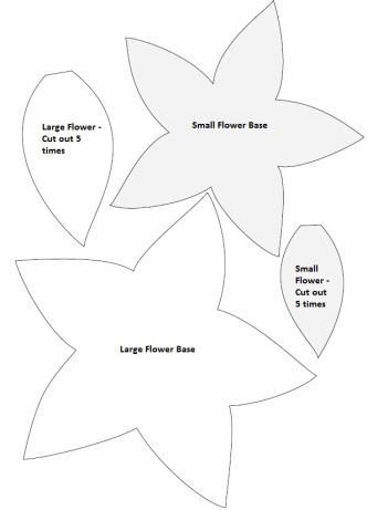 Felt Poinsettia Pattern: Make a million for tree skirt