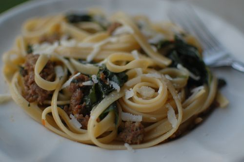 Fettuccine with Sausage and Kale (Char) | Dinner | Pinterest