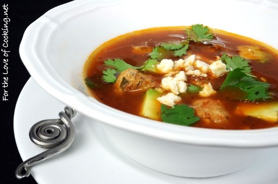 Mexican Meatball Soup | Now We're Cooking | Pinterest