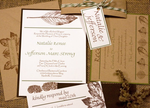 Nature Themed Wedding Invitations Brown Nature Themed Wedding Invitations Nature Pinterest