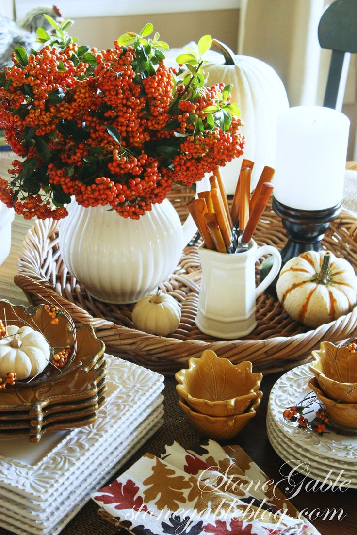 Great fall table decor fall and thanksgiving pinterest for Fall table