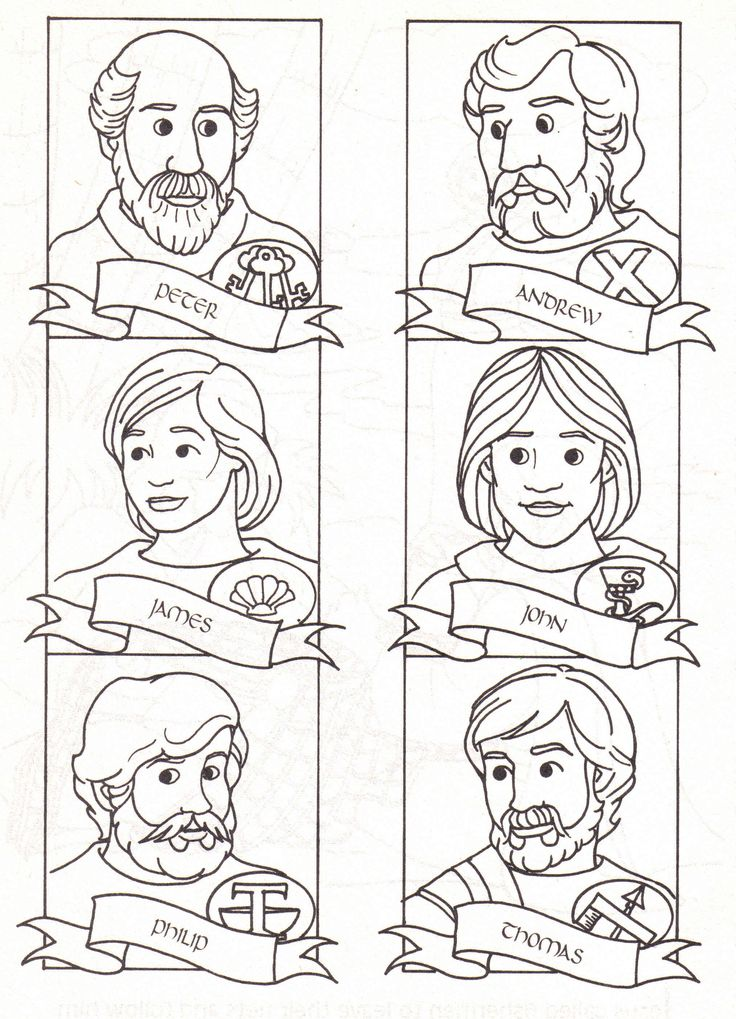 twelve apostles coloring pages - photo#5