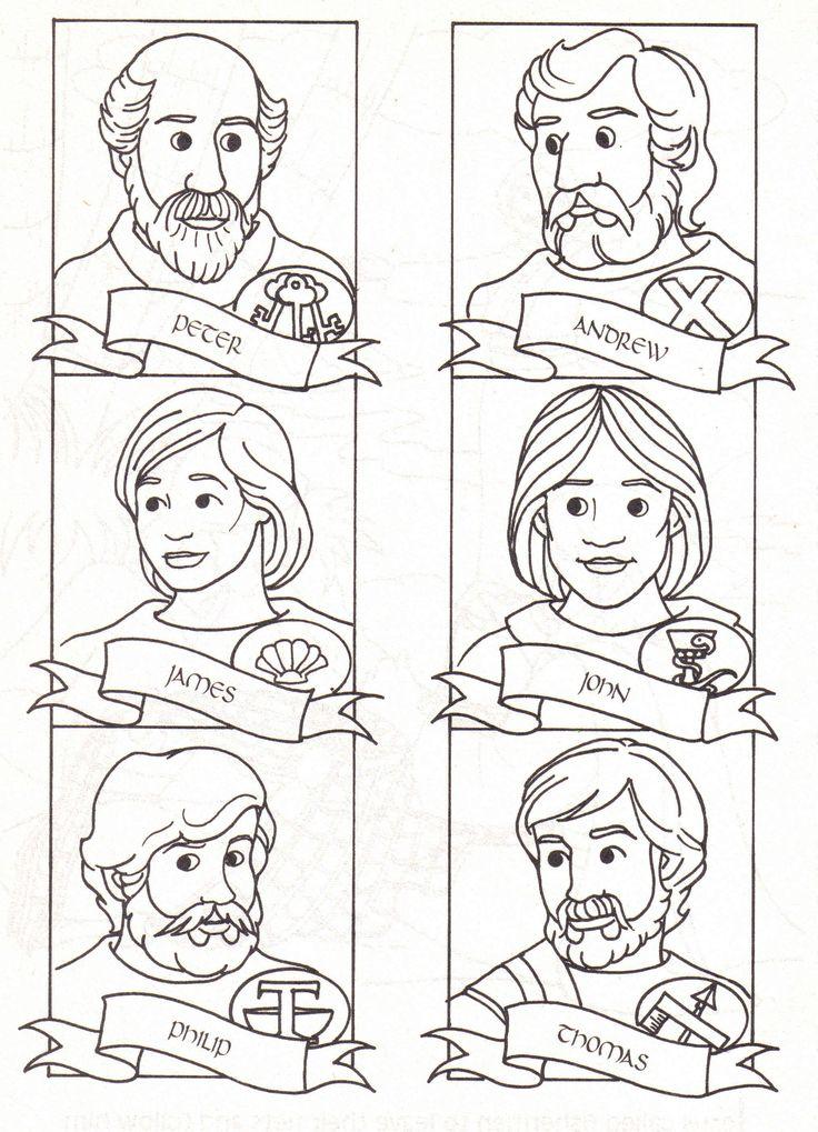 jesus disciples coloring pages - photo#33