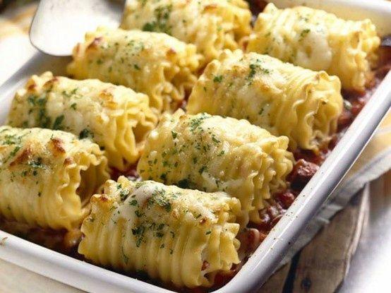 Chicken and Cheese Lasagna Roll-Ups | Delish | Pinterest