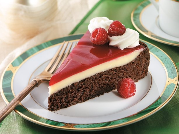 Raspberry Glazed Double Chocolate Dessert Recipe