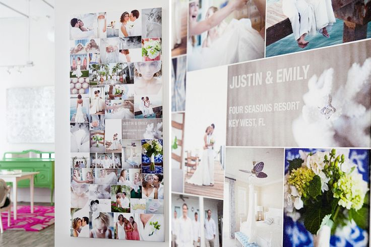 LOVE this wedding photography canvas!! How neat is this-I'd love to design one for a wedding, or even a family session. I love the idea of having all the pictures in one collage :)