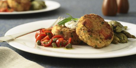 Crab Cakes with Caper Aioli | Food {Main Dishes} | Pinterest