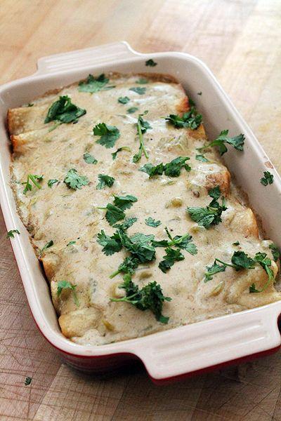 Sour Cream Chicken Enchiladas | Favorite Foods | Pinterest