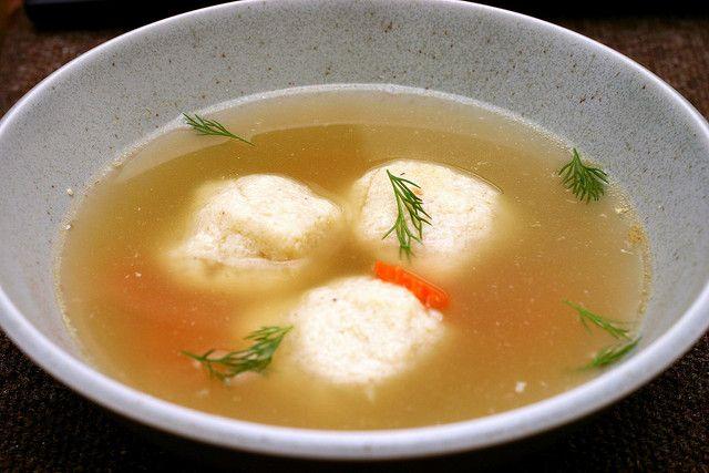 My all-time favorite matzo ball soup via Smitten Kitchen. Perfect ...