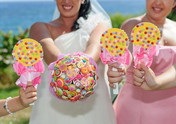 Candy Themed Wedding Bouquet