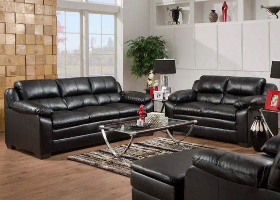 Soho black 2 pc living room living room sets living room