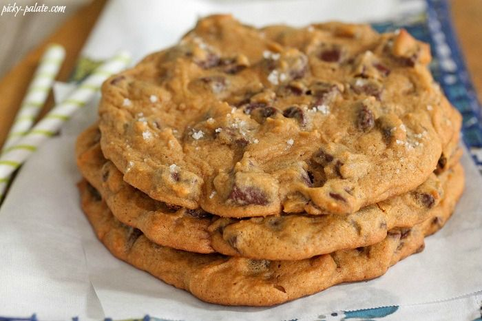Giant Salted Pumpkin Chocolate Chunk Cookies from picky palate using 1 ...