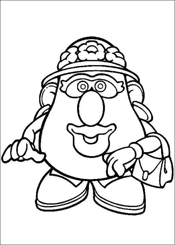 Coloring Page Mr Potato Head Kids N Fun School Pinterest Mrs Potato Coloring Pages