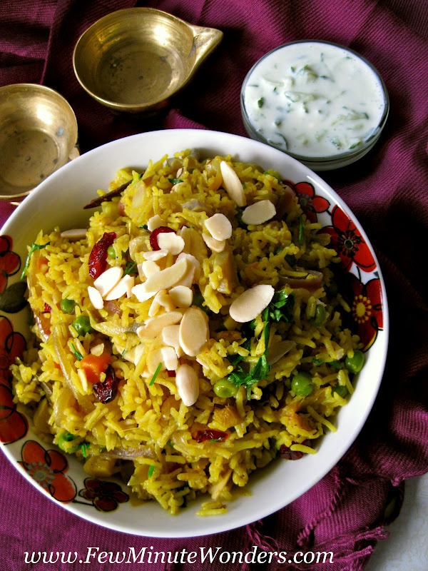 Few Minute Wonders: Vegetable Pulao / Pilaf / Pulav