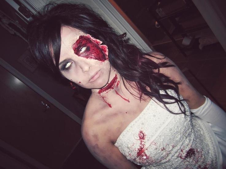 Dead Bride Makeup Pictures : Dead Zombie bride Halloween makeup ideas Halloweenies ...
