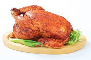 """Lemongrass-Ginger """"Braised"""" Whole Chicken with Daikon"""