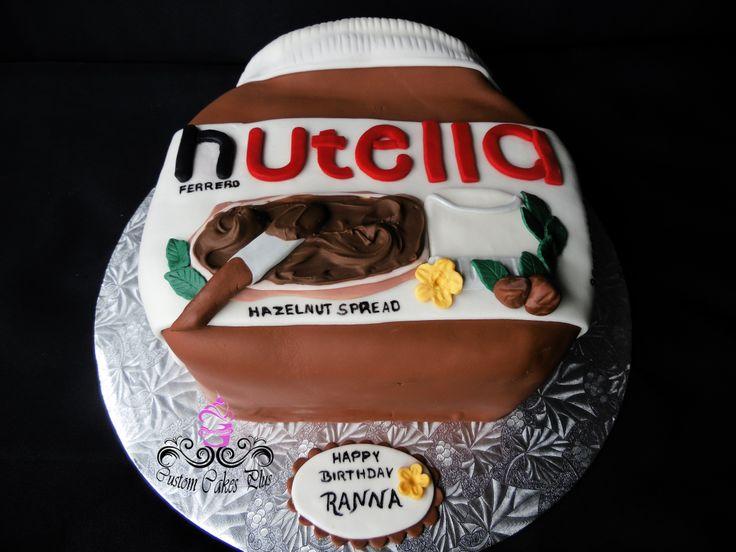Nutella Jar birthday cake  Custom Cakes  Pinterest