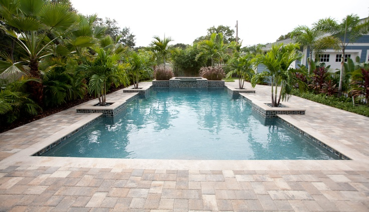 Narrow Backyard Pool : narrow pool for contemporary style  Pools, Patios and Outdoor Livi