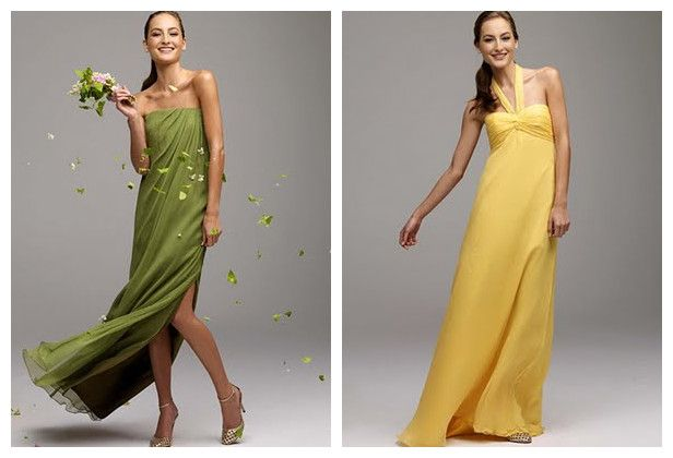 Yellow And Green Bridesmaid Dresses 42