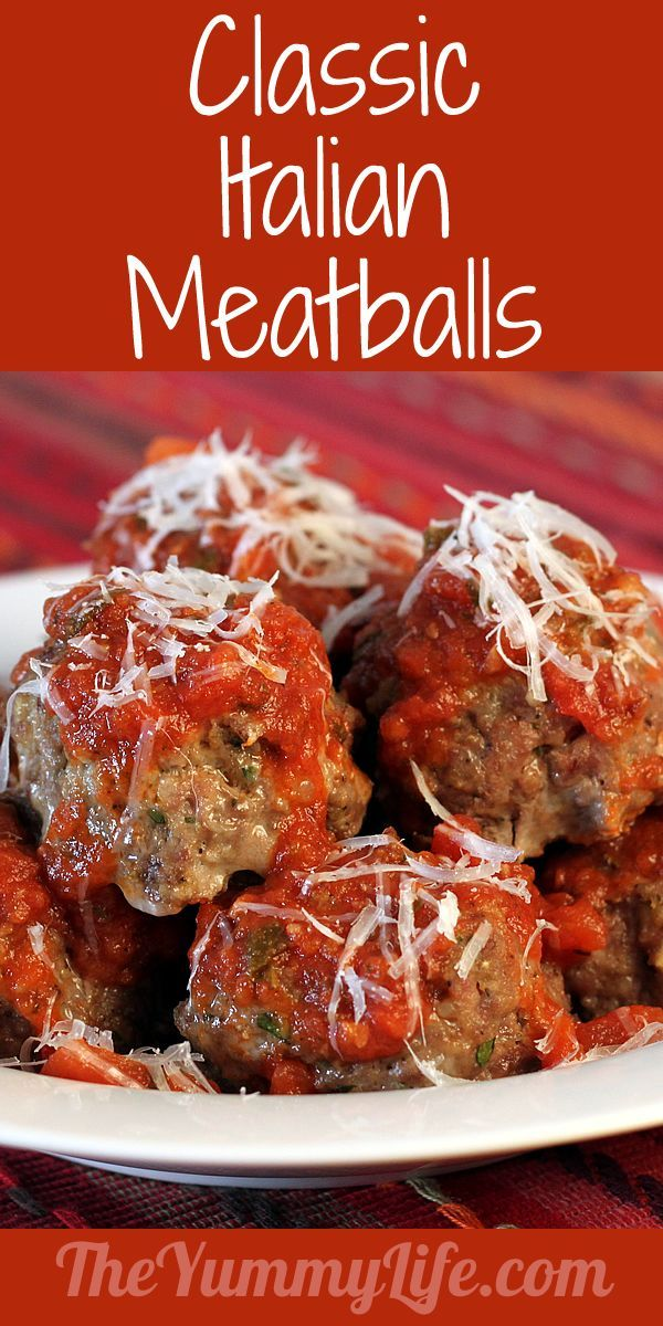 ... Italian Meatballs. They're the most tender, delicious meatballs ever