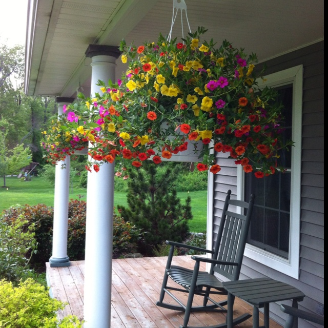 front porch hanging baskets my cottage ideas pinterest