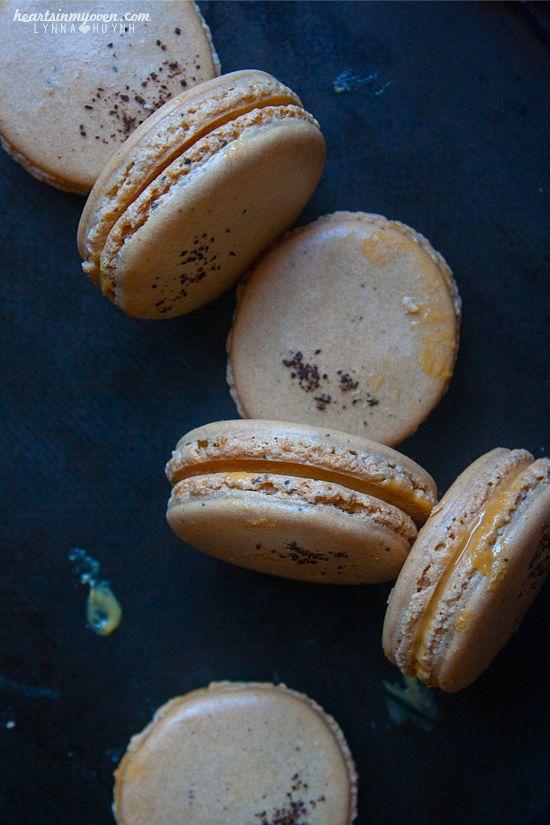 Dulce de Leche Mocha Macarons | .sweets: cookies | Pinterest
