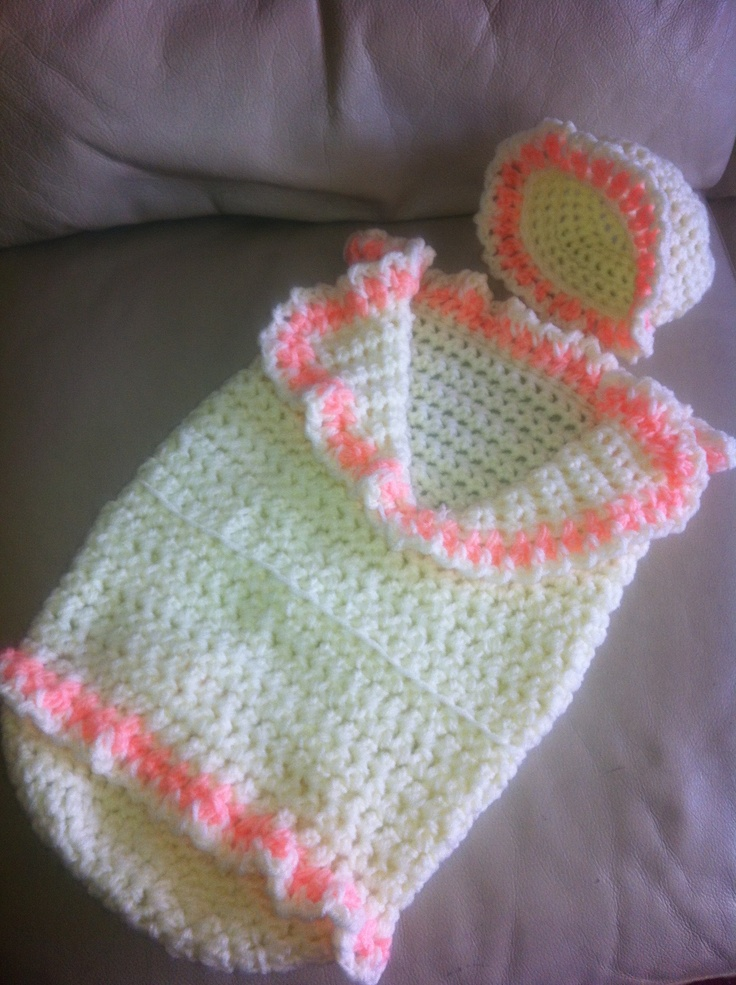 Crochet Items : Crochet snuggly cocoon Crochet baby reborn items Pinterest