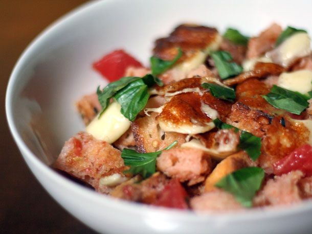 Grilled Cheese Curd Panzanella (Bread) Salad---shut the front door ...