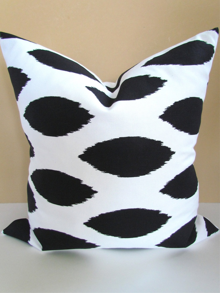 Unique Throw Pillow Covers 18x18 : THROW PILLOWS BLACK 18x18 Decorative Throw Pillow Covers 18 x 18 Ikat Pillows pillow shops black ...