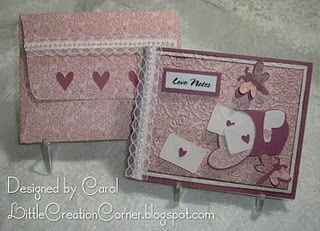 Create this special card and envelope set using your #Cricut machine! Your Valentine will love this!