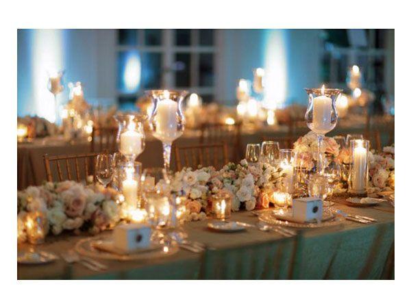 Decoraci n de boda color dorado decoraci n boda con for Decoracion de velas
