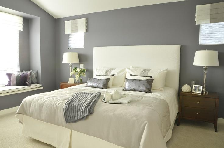 Gray Purple Feminine Master Bedroom Home Ideas Pinterest