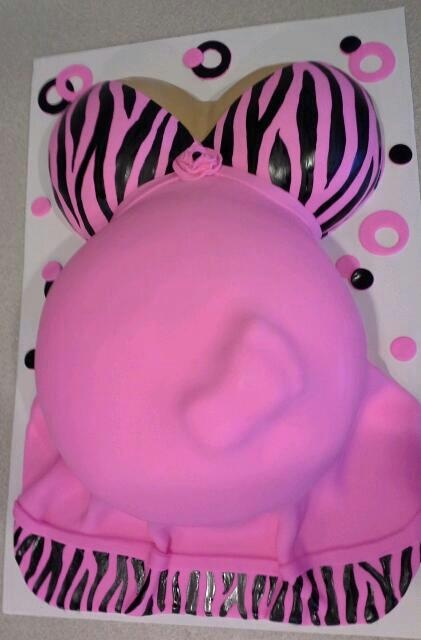 Baby Shower Belly Cakes Baby shower belly cake :-)