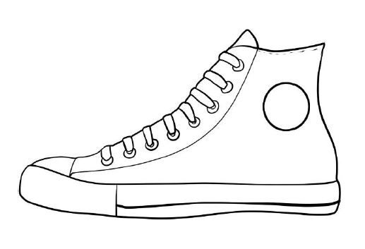Pete The Cat Sneaker Coloring Page