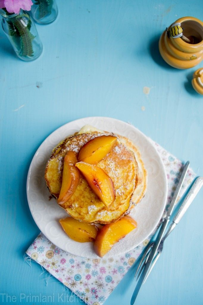 Sweet Corn Pancakes with Peaches | Yumm.... | Pinterest