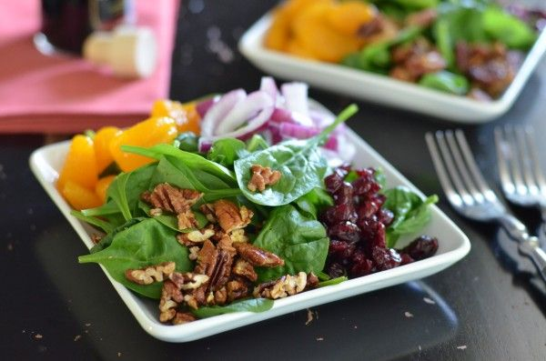 quinoa salad with roasted grapes pears almonds two peas spinach quinoa ...