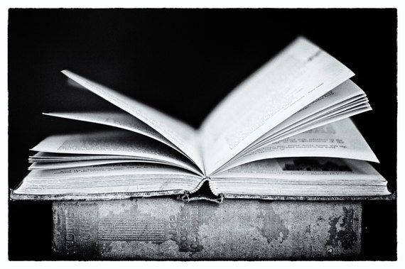 Open Vintage Book Black and White Photography Fine Art ...